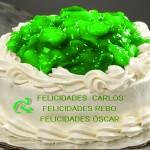 "Foto de una tarta con mermelada ""verde biciocio"""