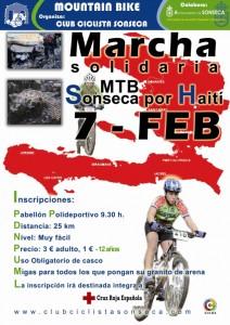 Cartel marcha MTB por Haití organizado por el club ciclista de Sonseca (Toledo)